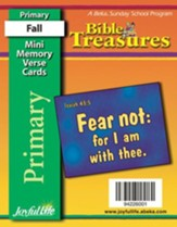 Bible Treasures Primary (Grades 1-2) Mini Memory Verse Cards