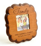 Personalized, Family 4x4 Photo Frame, Cherry