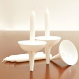 50 Congregation Candles with Reusable Plastic Holders