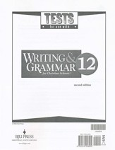 BJU Writing & Grammar Grade 12 Tests (Second Edition)