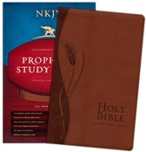NKJV Prophecy Study Bible, Imitation Leather, Brown