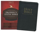 NKJV Prophecy Study Bible, Giant Print, Genuine Leather, Black