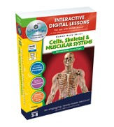 Cells, Skeletal & Muscular Systems Interactive Digital Lessons on CD-ROM Grades 3-8