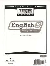BJU English Grade 5 Tests Answer Key (2nd Edition)