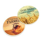 God Made A Farmer Car Coasters, Set of 2