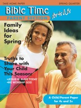 Scripture Press 4s & 5s Bible Times Take-Home, Spring 2015