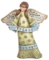 Friend Loves at All Times Angel Figurine