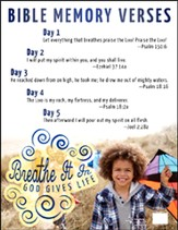 Breathe It In: God Gives Life VBS, Bible Memory Poster