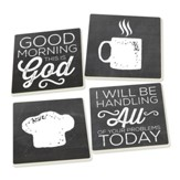 Good Morning, Inspiration Coasters, Set of 4
