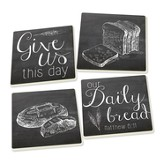 Daily Bread Coasters, Pack of 4