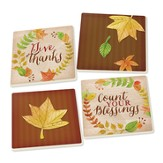 Give Thanks Coasters, Pack of 4