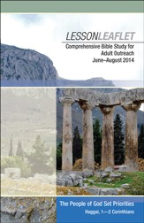 Bible-in-Life & Echoes Adult Comprehensive Bible Study Leaflet, Summer 2014