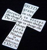 Serenity Prayer, Sterling Silver Cross Pocket Token