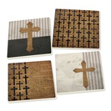 Crosses Coasters, Set of 4