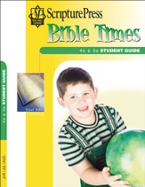 Scripture Press 4s & 5s Bible Times Student Guide, Summer 2015