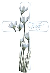 X-Ray Flower Faith Cross