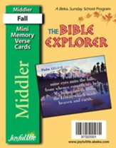 Bible Explorer Middler (Grades 3-4) Mini Memory Verse Cards