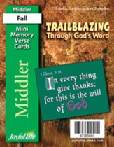 Trailblazing through God's Word Middler (Grades 3-4) Mini Memory Verse Cards