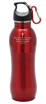 Stainless Steel Sport Bottle, Red