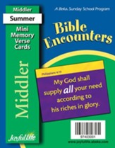 Bible Encounters Middler (Grades 3-4) Mini Memory Verse Cards