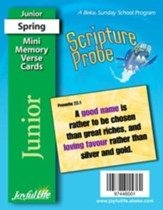 Scripture Probe Junior (grades 5-6) Mini Memory Verse Cards (Spring Quarter)