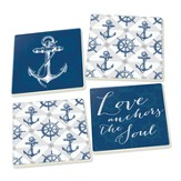 Love Anchors the Soul Coasters, Set of 4