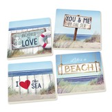 You and Me By the Sea Coasters, Pack of 4