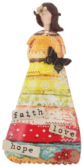 Faith Hope Love Figurine