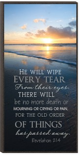 He Will Wipe Every Tear Wall Art