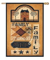 Family Patchwork Flag, Large