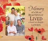 In Memory Of A Life So Beautifully Lived Photo Frame