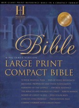KJV Holman Large Print Compact Bible, Blue Bonded Leather