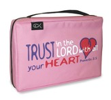 Trust in the Lord, Proverbs 3:5, Bible Cover, Pink