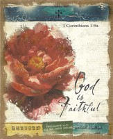 God Is Faithful Burlap Wall Art