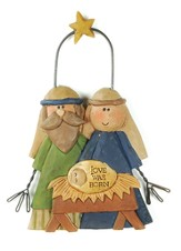 Country Charm Holy Family Ornament