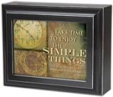 Take Time to Enjoy the Simple Things, Proverbs 3:5 Jewelry Box