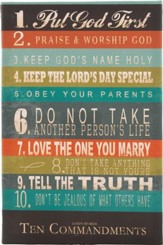 10 Commandments for Kids, Teen Male, Canvas Art