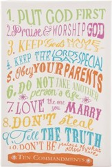 10 Commandments for Kids, with Jewels, Canvas Art