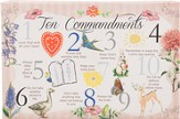 10 Commandments for Kids, Vintage, Canvas Art