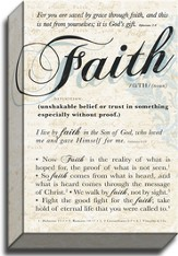 Faith, Definition, Canvas Art