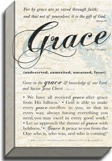 Grace, Definition, Canvas Art