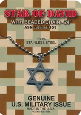 Star Of David G.I. Necklace