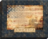 America, Blessed Is the Nation, Framed Art