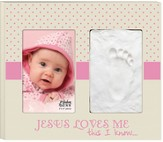 Jesus Loves Me This I Know Photo Frame, Pink
