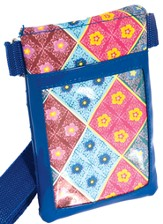 Cell Phone Case Organizer with Belt, Blues and Red