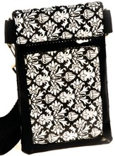 Cell Phone Case Organizer with Belt, Black and White