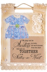 Sisters in Heart Wallhanging