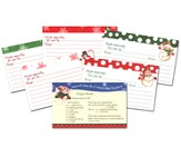 Christmas Recipe Cards, Set of 32