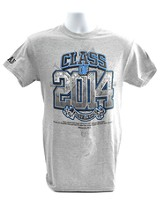 Personalized Class of 2014, Short Sleeve Shirt, Large,  Gray