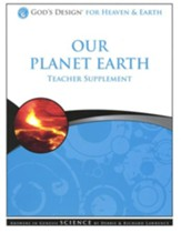 God's Design for Heaven and Earth: Our Planet Earth Teacher Supplement (Book & CD-Rom) - Slightly Imperfect